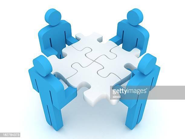 Puzzle le travail d'équipe