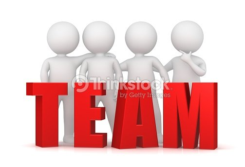 Teamwork Team Work Team Spirit Team Building Team Development Red 3d ...