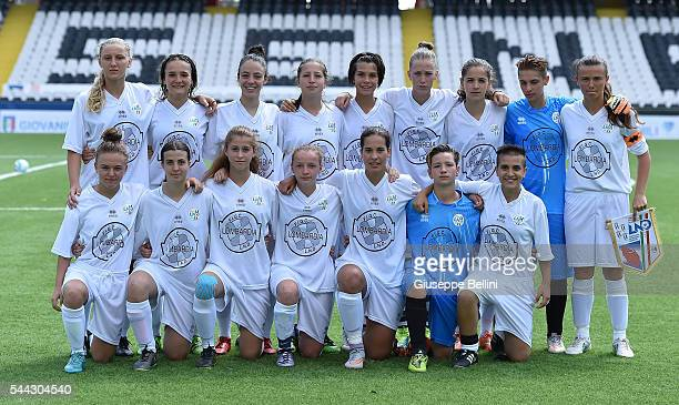 Tean of Lombardia prior the Finale Regionali Women's U15 match between Marche and Lombardia at Dino Manuzzi Stadium on July 3 2016 in Cesena Italy