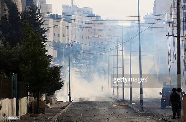 Tear gas is in the streets of the West Bank city of Bethlehem during confrontations between Palestinian youth and Israeli soldiers A 27yearold...
