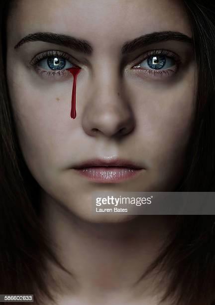 Tear of blood