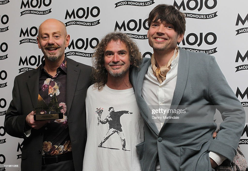 Teardrop Explodes with award and Alex James (R) at The Mojo Honours List at The Brewery on June 10, 2010 in London, England.