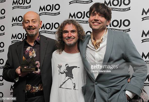 Teardrop Explodes with award and Alex James at The Mojo Honours List at The Brewery on June 10 2010 in London England