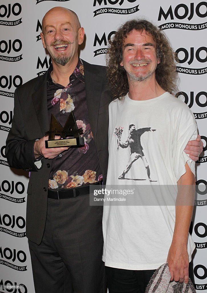 Teardrop Explodes with award at The Mojo Honours List at The Brewery on June 10, 2010 in London, England.