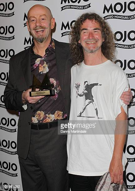 Teardrop Explodes with award at The Mojo Honours List at The Brewery on June 10 2010 in London England