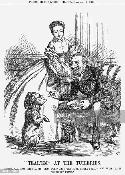 'Tear'em At The Tuileries' 1863 Eugénie says Ah Mon Cher Louis Pray Don't Cram The Poor Little Fellow Any More It is Positively Cruel This shows Mr...