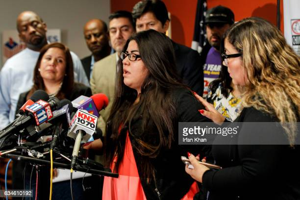 Tears rolling down her cheeks Marlene Mosqueda speaks about her father Manuel Mosqueda Lopez who was picked up by Immigration and Customs Enforcement...