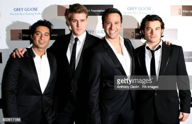 Teatro arrive at the Grey Goose Vodka and The Elton John AIDS Foundation VIP launch party One Piazza Covent Garden London