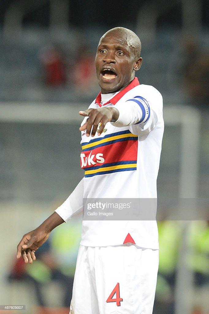 Tebogo Monyai during the Absa Premiership match between Orlando Pirates and University of Pretoria at Orlando Stadium on December 19, 2013 in Soweto, South Africa.