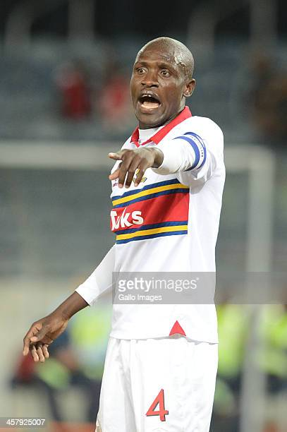 Tebogo Monyai during the Absa Premiership match between Orlando Pirates and University of Pretoria at Orlando Stadium on December 19 2013 in Soweto...