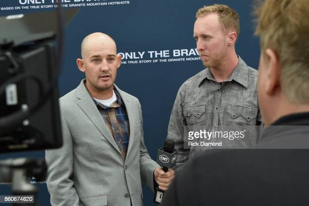 Tech Advisor Pat McCarty and the lone survivor of Yarnell Fire Brendan McDonough attend 'Only The Brave' Nashville screening hosted by Dierks Bentley...