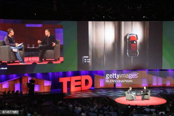 Tech entrepreneur Elon Musk discusses a vision of cars being lowered into tunnels to travel efficiently and eliminate traffic congestion with curator...