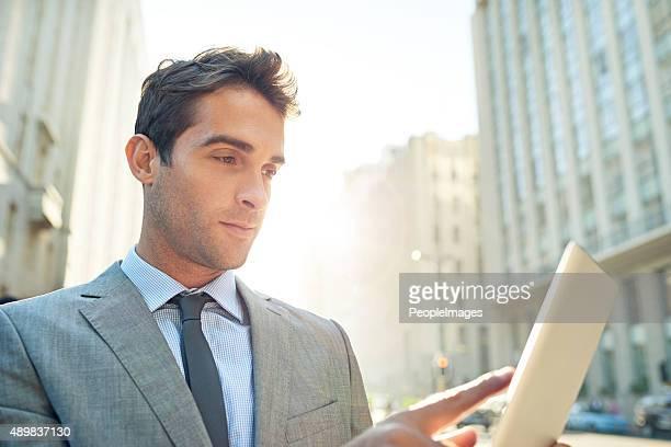Tech Pour les pressés Homme d'affaires
