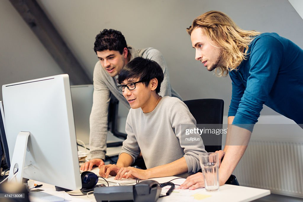 tech start-up founders working on their new product