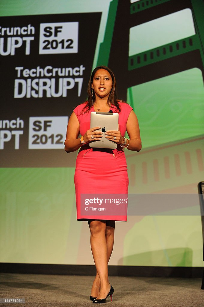 A TechCrunch moderator speaks at the Tech:Crunch Disrupt SF 2012 Conference on September 10, 2012 in San Francisco, California.