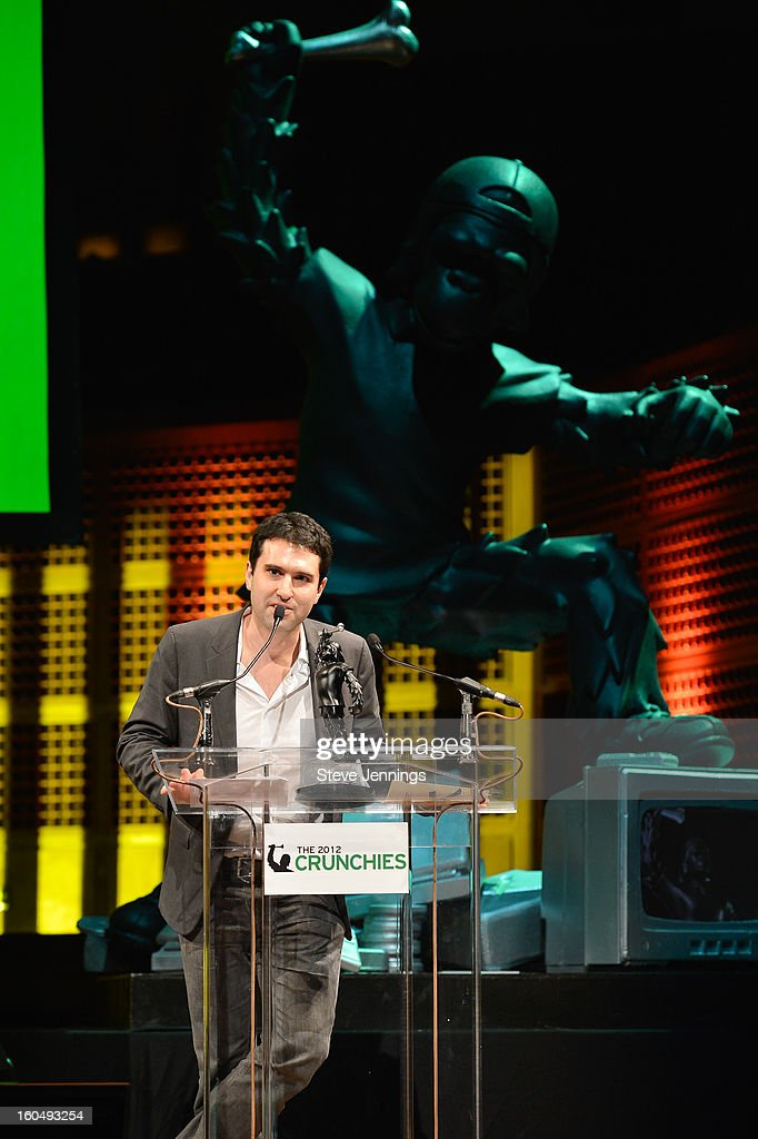 Techmeme winner for Best Bootstrapped Startup at the 6th Annual Crunchies Awards at Davies Symphony Hall on January 31, 2013 in San Francisco, California.