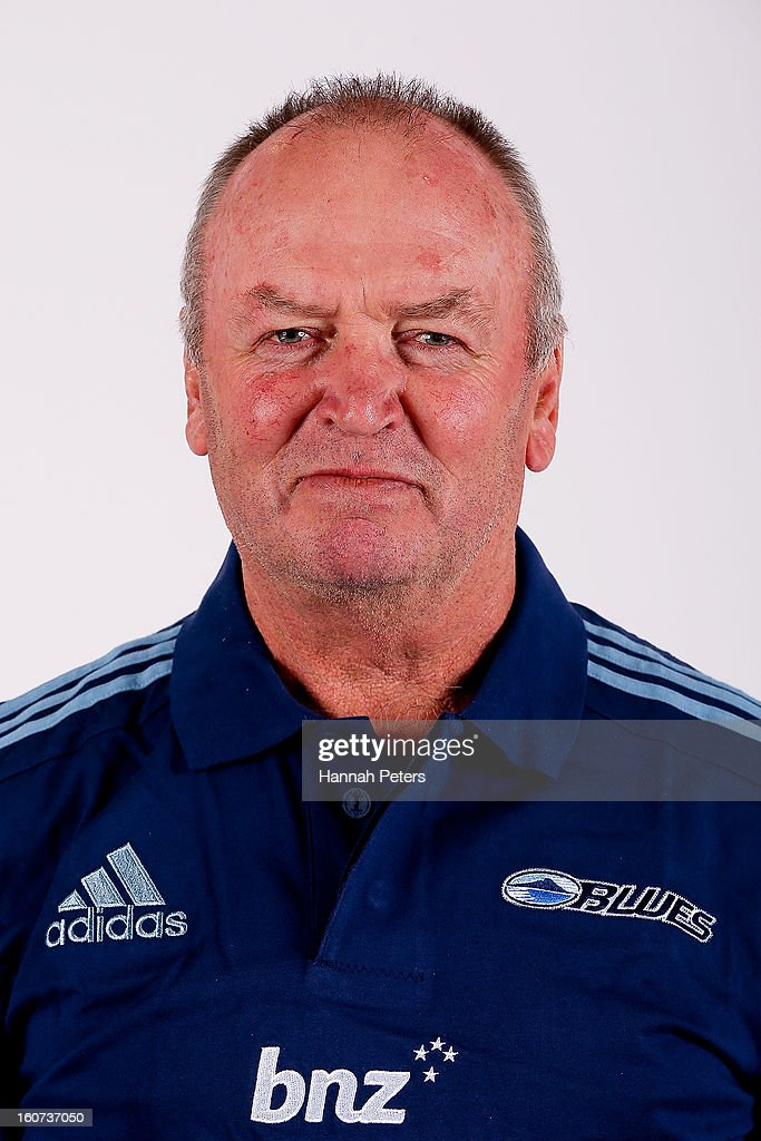Technical advisor Sir Graham Henry poses for a portrait during the 2013 Blues headshots session on February 5, 2013 in Auckland, New Zealand.