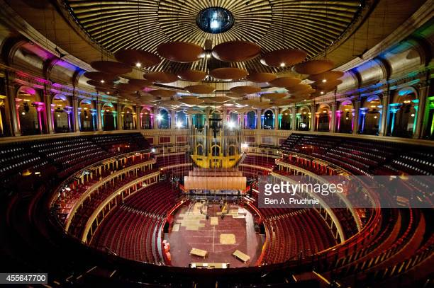 Technical and maintenance teams spruce up the Royal Albert Hall during a rare quiet day at the iconic London venue at the Royal Albert Hall on...
