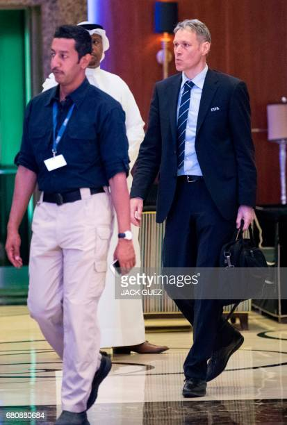 Technical Director Marco van Basten leaves following a meeting of the FIFA council in Manama on May 9 2017 A fivehour long meeting of the allpowerful...