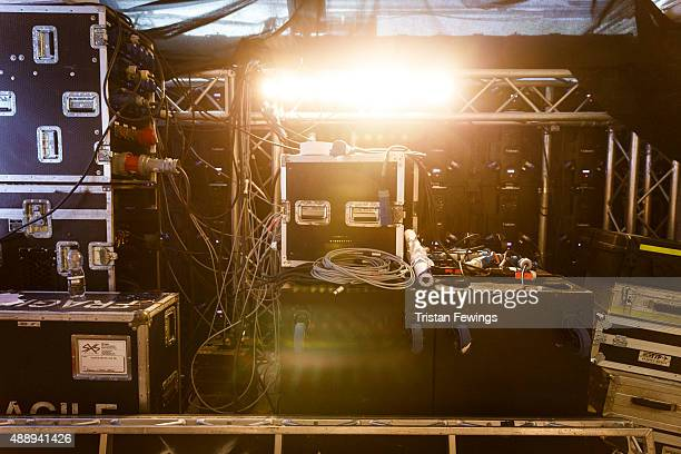 Technical equipment backstage atthe PPQ show during London Fashion Week Spring/Summer 2016 on September 18 2015 in London England