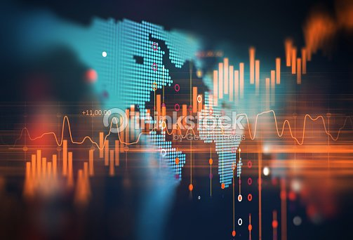 technical financial graph on technology abstract background : Stock Photo