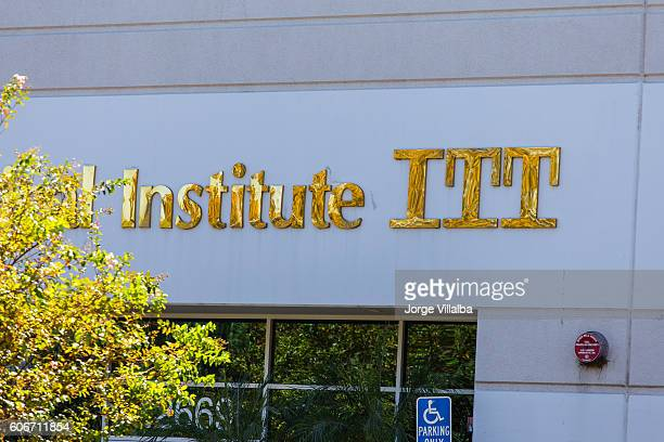 ITT Technical Institute sign and school campus showing its closure