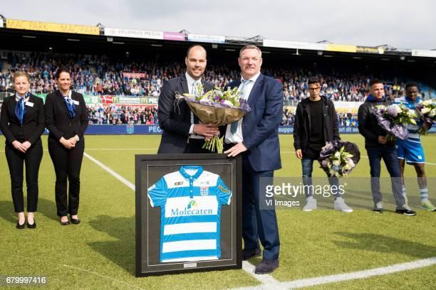 technical manager Gerard Nijkamp of PEC Zwolle coach Ron Jans of PEC Zwolle Hachim Mastour of PEC Zwolle Calvin Verdonk of PEC Zwolle Queensy Menig...