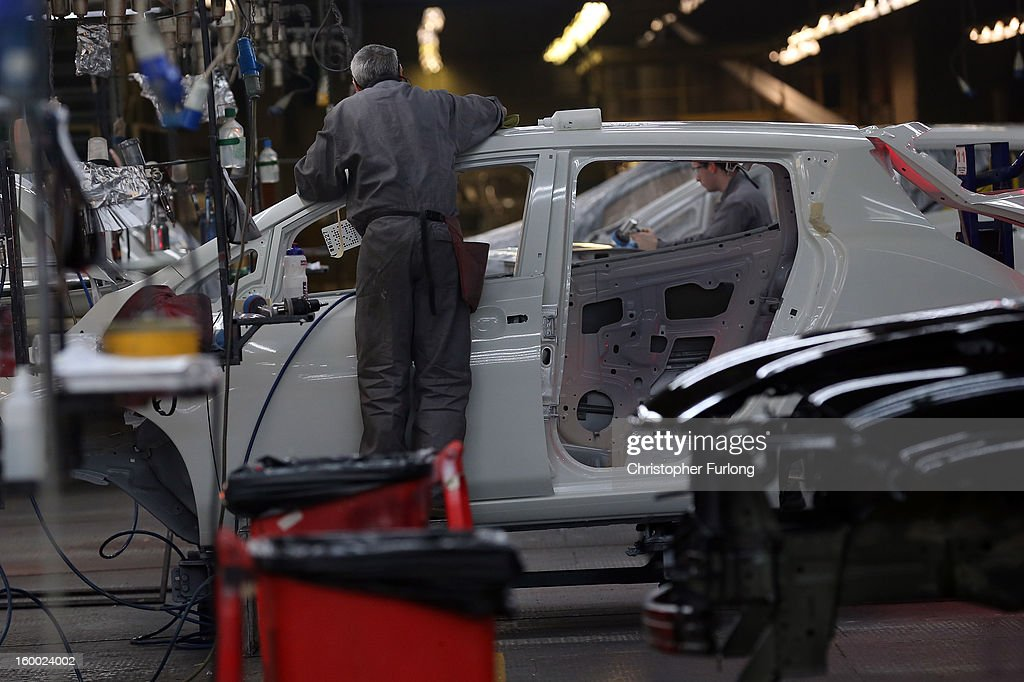 A technician assembles a Nissan car on the production line at Nissan's Sunderland plant on January 24, 2013 in Sunderland, England. The Japanese manufacturer's factory employs 6,225 people producing the Juke, Note and Qashqai models. In 2012 the Wearside facility built 510,572 cars to become the first ever UK automobile plant to have produced more than half a million cars in a year, which was 34.8 percent of the cars produced in the whole of the UK for 2012.