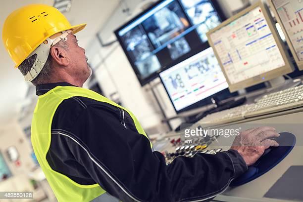 Technician in control room