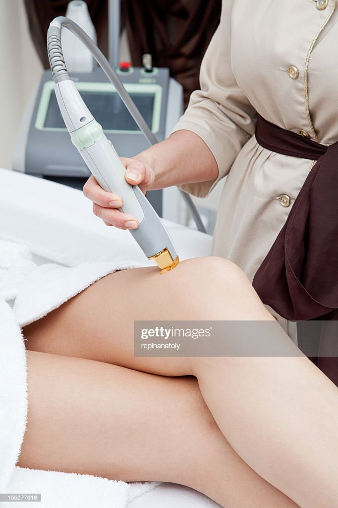 laser hair removal procedure close-up