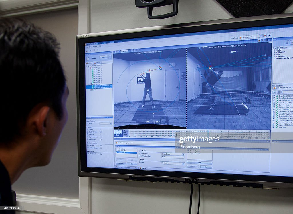 A technician reviews swing stop motion data at the Ping Inc. production facility in Phoenix, Arizona, U.S., on Tuesday, Dec. 17, 2013. The U.S. Census Bureau is scheduled to release durable goods figures on Dec. 24, 2013. Photographer: Tim Rue/Bloomberg via Getty Images