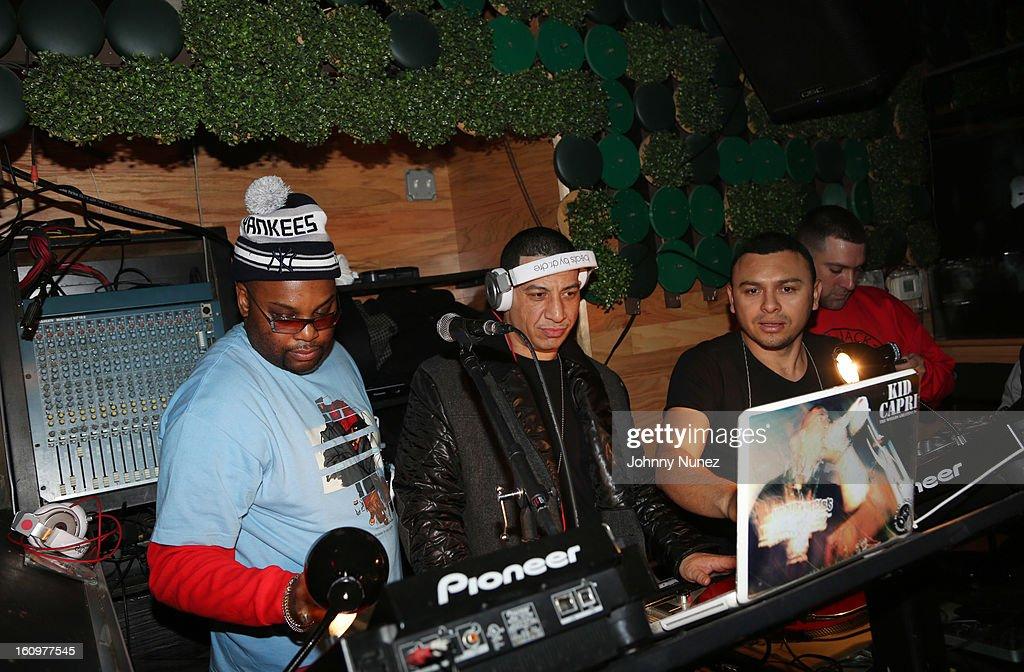 Technician the DJ and Kid Capri celebrate Kid Capri's birthday at Greenhouse on February 7, 2013 in New York City.