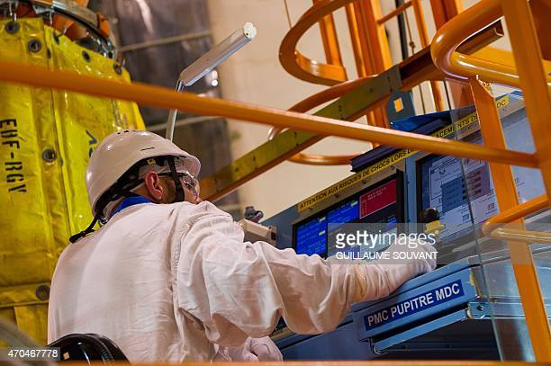 A technician works in the building housing the Unit 1 switched off reactor at the nuclear power plant of SaintLaurentdesEaux in SaintLaurentNouan...