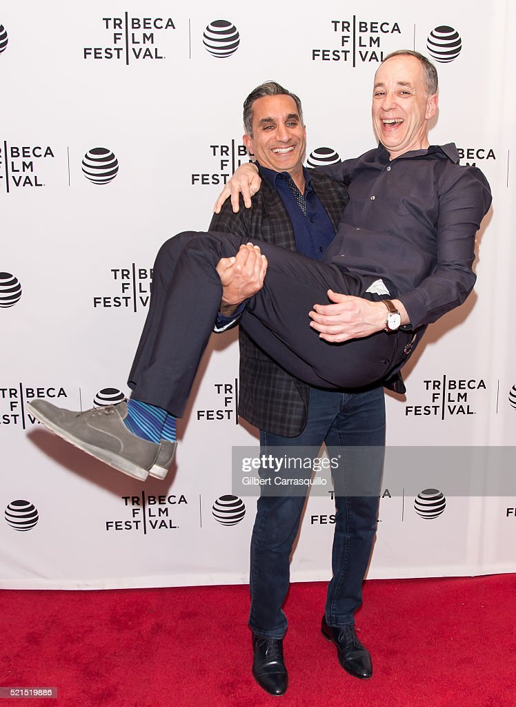 Technicolor CEO, producer Frederic Rose and Bassem Youssef attend 'Tickling Giants' Premiere during 2016 Tribeca Film Festival at Chelsea Bow Tie Cinemas on April 15, 2016 in New York City.