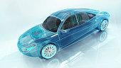 3D conceptual rendering, my own car design