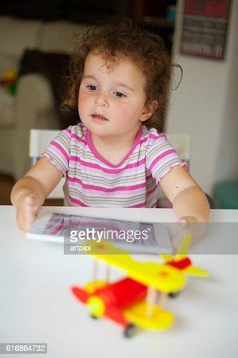 technology girl : Stock Photo