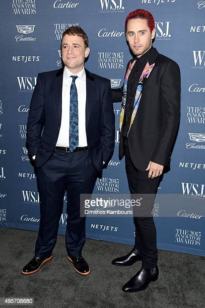 Technology Innovator Stewart Butterfield and actor Jared Leto attend the WSJ Magazine 2015 Innovator Awards at the Museum of Modern Art on November 4...