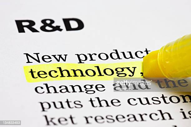 'Technology' is highlighted under the heading 'R & D'