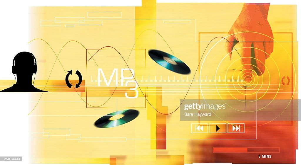 MP3 Technology : Stock Photo
