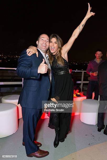 Techo Gym Regional Business Developer Justin Saunders and Elisabetta Canalis attend Elisabetta and Maddalena For SkyViewLA on December 9 2016 in Los...
