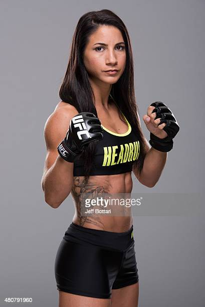 Tecia Torres of the United States poses for a portrait during a UFC photo session at the JW Marriott Hotel on June 10 2015 in Mexico City Mexico