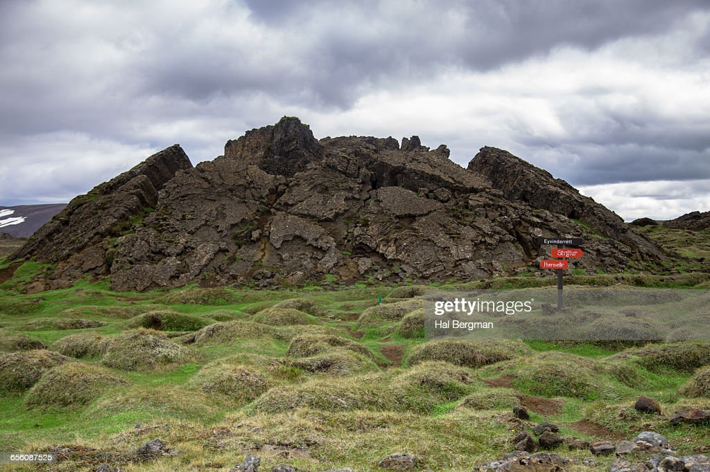 Tectonic Activity Reminder in Icelandic Highlands