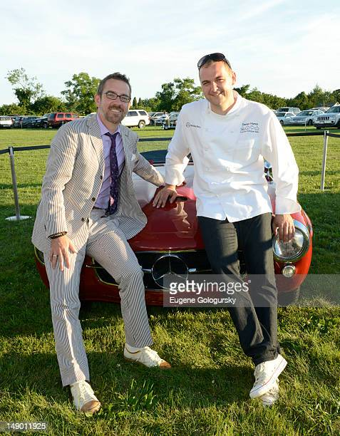 Ted Allen and Chef Daniel Humm attend the Wolffer Estate Vineyard on July 21 2012 in Sagaponack New York