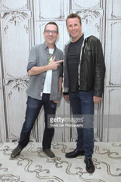 Ted Allen and Marc Murphy attend Build Series to to discuss thier show 'Chopped' at AOL HQ on November 1 2016 in New York City