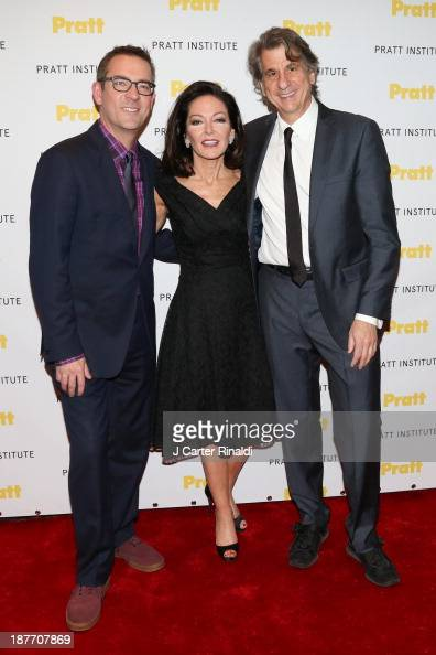 Ted Allen Margaret Russell and David Rockwell attend Annual Pratt Institute gala at Mandarin Oriental Hotel on November 11 2013 in New York City