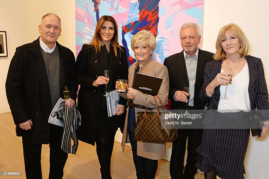Ted Beckham, Joanne Beckham, Sandra Beckham, Tony Adams and Jackie Adams attend a charity auction of 'David Beckham: The Man' hosted by Phillips at their European Headquarters and catered by Sexy Fish on March 10, 2016 in London, England. The auction is in support of '7: The David Beckham UNICEF Fund' and UK charity 'Positive View Foundation'.