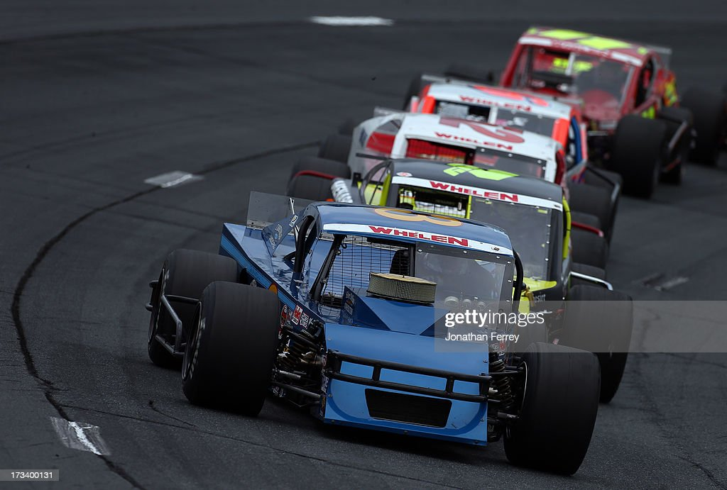 <a gi-track='captionPersonalityLinkClicked' href=/galleries/search?phrase=Ted+Christopher&family=editorial&specificpeople=790817 ng-click='$event.stopPropagation()'>Ted Christopher</a>, driver of the #3 Chevrolet, leads the field during the NASCAR Whelen Modified Tour Town Fair Tire 100 at New Hampshire Motor Speedway on July 13, 2013 in Loudon, New Hampshire.