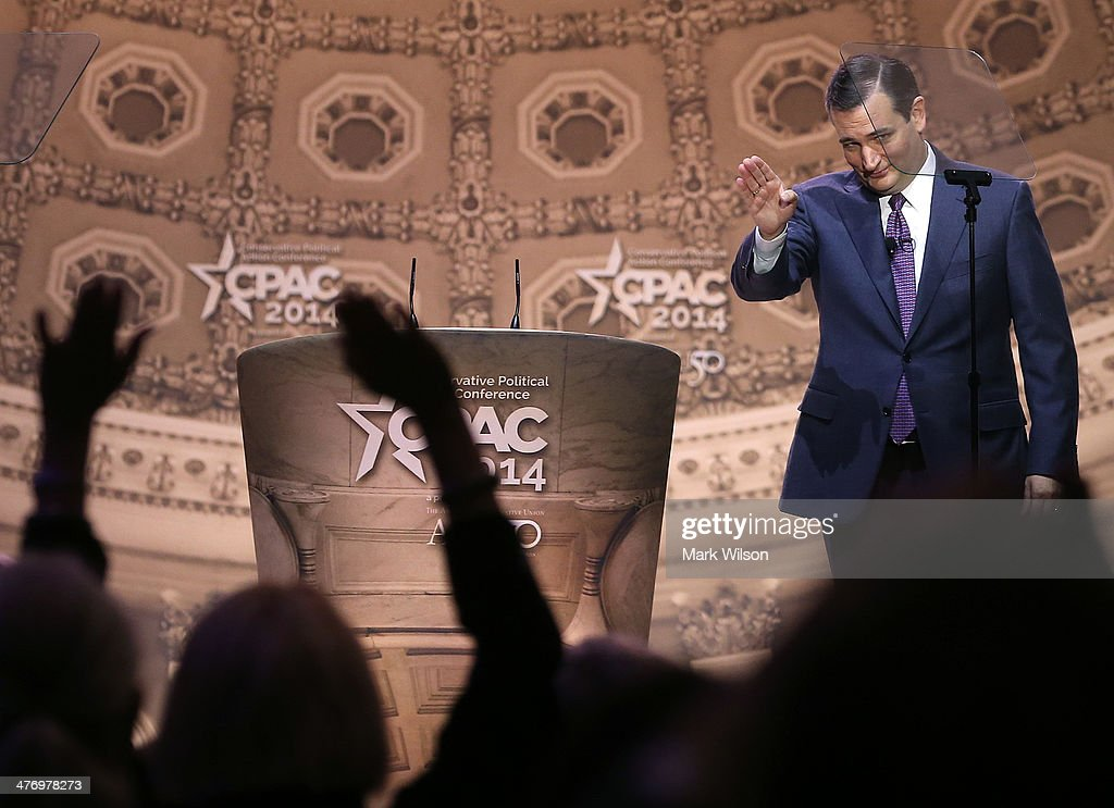 Ted Cruz speaks at the CPAC Conference on March 6 2014 in National Harbor Maryland The American Conservative Union held its 41st annual Conservative...