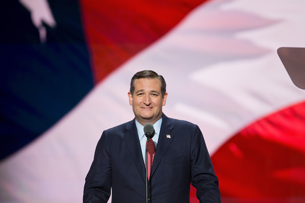 Ted Cruz speaks on the third day of the Republican National Convention on July 20 2016 at the Quicken Loans Arena in Cleveland Ohio An estimated...