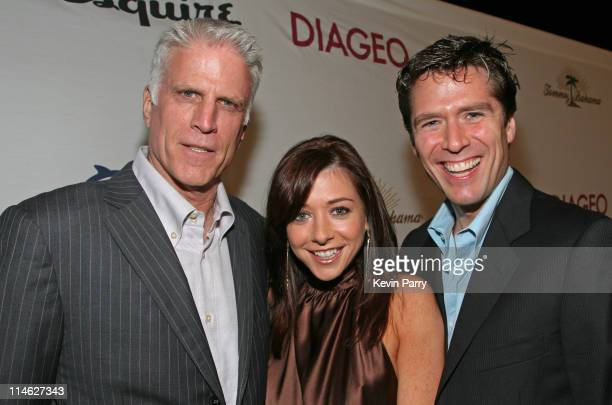 Ted Danson Alyson Hannigan and Alexis Denisof during Oceana Celebrates 2006 Partners Award Gala Red Carpet and Inside at Esquire House 360 in Beverly...